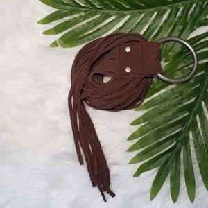 Boho Fringe Genuine Leather Belt